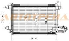 Радиатор кондиционера audi a3 03-//seat leon/toledo//skoda octavia 04-/superb 08-/yeti 09-//vw eos 0