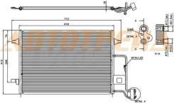 Радиатор кондиционера VW PASSAT B5 00-05/SKODA SUPERB 02-08