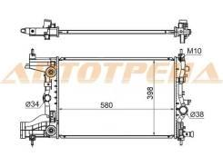 Радиатор CHEVROLET CRUZE/ORLANDO 1.8 09- / OPEL ASTRA J 1.6 09-/ZAFIRA C 1.8 10- (пластинчатый)