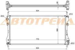 Радиатор FORD TRANSIT 2.0D/2.0TD 00-06 W/O A/C FD0006