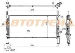 Радиатор FORD TRANSIT 2.2TD/2.3/2.4TD 2006- W A/C FD0006-06-1