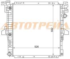 Радиатор FORD EXPLORER 4.0 96-02/FORD RANGER USA/MAZDA B3000/B4000 3.0/4.0 98-01 FD0007