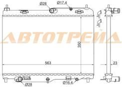 Радиатор FORD FIESTA 09-/ECOSPORT 13-