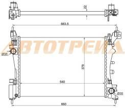 Радиатор FIAT GRANDE PUNTO 05- SAT FI0003