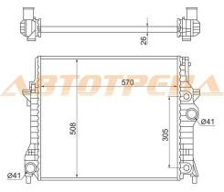 Радиатор JAGUAR XF 08-/S-TYPE 02- SAT JA0003