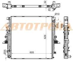 Радиатор RANGE ROVER SPORT / DISCOVERY III 4.0/4.4 04-