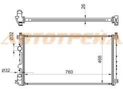 Радиатор OPEL MOVANO 97-10/RENAULT MASTER 01-10/NISSAN INTERSTAR 02-