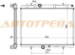 Радиатор CITROEN BERLINGO 1.6D (08-)//C4 /C5 1.8/2.0 (04-)//PEUGEOT 407 1.8/2.0/2. см.комментарий