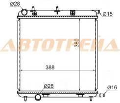Радиатор PEUGEOT 1007/207/CITROEN DS3 1.4/1.6/CITROEN C2/C3 1.1/1.4/1.6 03-