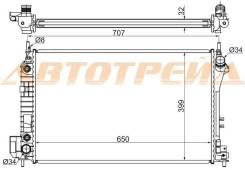 Радиатор SAAB 9-3 1.8/1.8T/2.0T/2.2TD 03-/OPEL VECTRA C/SIGNUM 2.0TD/2.2/2.2TD/3.2 03-/CADILLAC BLS SAT SA0002