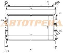 Радиатор FORD TRANSIT 2.2TD/2.3/2.4TD 2006- W/O A/C SG-FD0006-06