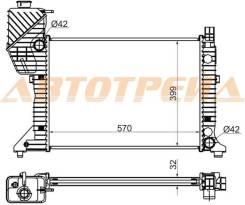 Радиатор MERCEDES SPRINTER 208D/214/308D/310D/312D/314/408D/410D/414 95-06
