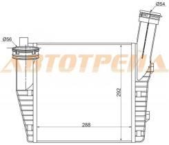Радиатор интеркулера AUDI Q7 06-/PORSCHE CAYENNE 02-/VOLKSWAGEN TOUAREG 02-(правый)
