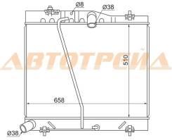 Радиатор TOYOTA HIACE/REGIUS ACE 1TR-FE/2TR-FE 04- TY0010-TRH200