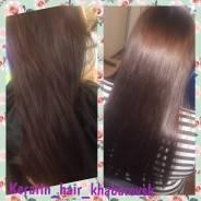 Кератиновое выпрямление и восстановление волос и полировка волос
