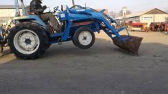 Iseki. TU240 рама TU17-0085 мини трактор c КУН (ковш)+фреза (без ПСМ), 1 300 куб. см.