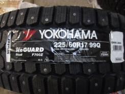Yokohama Ice Guard F700Z. Зимние, шипованные, 2015 год, без износа, 4 шт