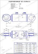 Гидроцилиндр стрелы, ковша ЕК-18, ЕТ-18, ЦГ-125.80x1100.11