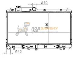 Радиатор SUBARU LEGACY 2,0-2,5/IMPREZA WRX 03-/FORESTER 07- SAT / SB0005BL