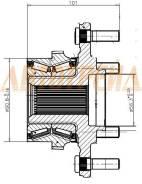 Ступичный узел FR MMC PAJERO IV/MONTERO V87W/V97W 2006- (в сборе)
