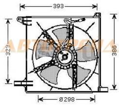 Диффузор радиатора в сборе DAEWOO NEXIA 96-