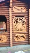 Сборка строений из оцелиндрованного бревна