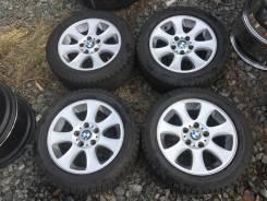 """Комплект оригинальных дисков BMW+Зимние шины Bridgestone Blizzak RFT. 7.0x16"""" 5x120.00 ET44 ЦО 72,6мм."""