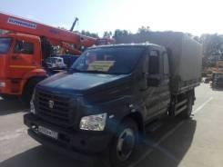 ГАЗ Газон Next C42R33. ГАЗон NEXT Фермер Сдвоенная кабина Борт-тент, б/у (2015 г. в. ), 4 400 куб. см., 4 870 кг.