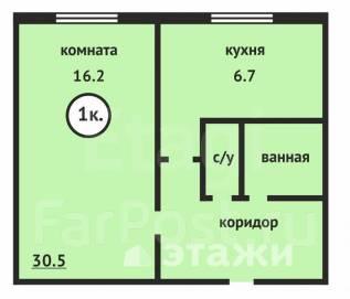 1-комнатная, проспект Интернациональный 27/2. Центральный, агентство, 31 кв.м.