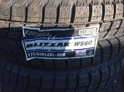 Bridgestone Blizzak WS-60. Зимние, без шипов, 2010 год, без износа, 4 шт