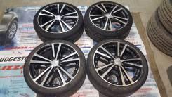 Красивейшие колеса хром+черный Atrum R17 4x100 + спорт шины. 7.0x17 4x100.00 ET42