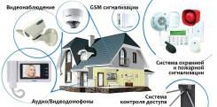 Монтаж систем видеонаблюдения, контроля доступа