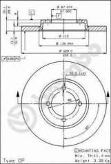 Диск тормозной. Hyundai Pony Hyundai Excel Mitsubishi Galant, EC1A, EC7A, EC5A, EC3A