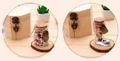 Баночка башмачок с витаминами любви (признаниями внутри) в шкатулке