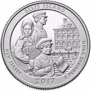 39-й парк Национальный монумент острова Эллис 25 центов, двор Р, D,
