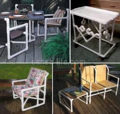 Изготовление мебели и прочего из ПВХ трубы