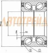 Подшипник FR ступицы MAZDA 3/AXELA BK#, BL# 03-, MAZDA 6 07- (с ABS)