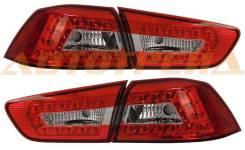 Фонарь задний+вставка MITSUBISHI LANCER X 07- красные диодные тюнинг комплект R+L PF-EE-214-1324FXLD2AE-RD