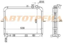 Радиатор KIA BONGO K-SERIES 2.5TC/2.7D (400)