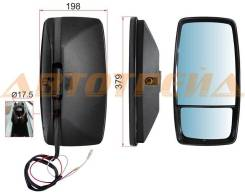 Зеркало заднего вида HINO/TOYOTA крепление хомут (379x198) SL-516P