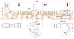Шланг тормозной передний (Таиланд) HONDA CITY/FIT/JAZZ 01-/AIRWAVE/PARTNER 05- LH SAT ST-01465-SAA-000