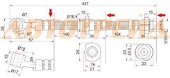 Шланг тормозной передний (Таиланд) NISSAN BLUEBIRD/PRIMERAI/NFINITI G20 94-01 RH ST-46210-2J005