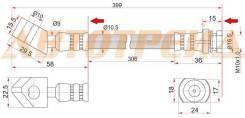 Шланг тормозной передний (Таиланд) NISSAN DATSUN 2WD 85-97 RH=LH