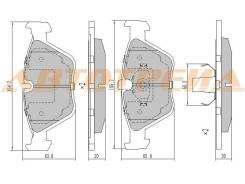 Колодки тормозные перед BMW X3 E83 04-10/3 E46 03-/Z4 E86 06-