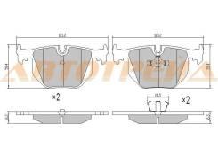 Колодки тормозные зад BMW 5 E39 98-03/3 E46 03-/X3 E83 04-10/X5 E53 01-06