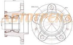 Ступичный узел RR PEUGEOT BOXER III/CITROEN JUMPER