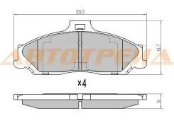 Колодки тормозные перед FORD RANGER 99-/MAZDA BT-50 06- ST-4509599