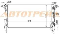 Радиатор HYUNDAI GENESIS CPE 2.0 2008- SAT HY0019