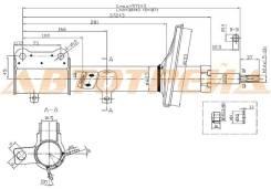Стойка задняя TOYOTA COROLLA/SPRINTER/SPACIO/CARIB/LVN/CRE/TRN/MRN 91-02 2WD RH