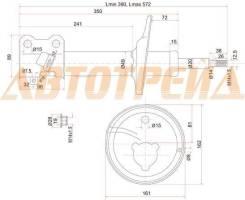 Стойка задняя TOYOTA COROLLA/SPACIO/SPRINTER/CARIB 91-02 4WD RH